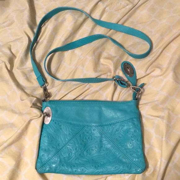 b8377ad3a6b5 Italian Leather Handbags - Gorgeous Teal Italian Leather Cross-Body